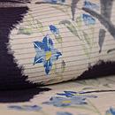 桔梗に菖蒲、蛇籠の絽小紋 質感・風合