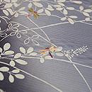 萩に蜻蛉絽訪問着 質感・風合