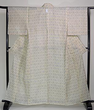 白地井桁の宮古上布