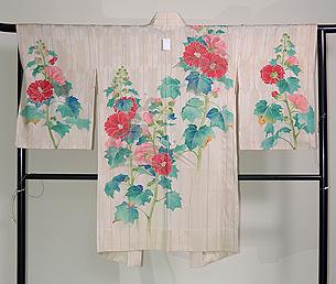 芙蓉の単衣絵羽織