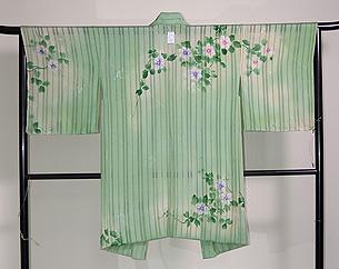 経絽鉄線三つ紋単衣羽織