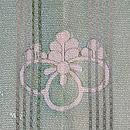 経絽鉄線三つ紋単衣羽織 背紋
