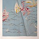 帆船とカモメ紗一つ紋訪問着 上前
