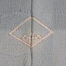 帆船とカモメ紗一つ紋訪問着 背紋
