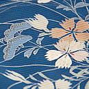 虫籠と秋草の図絽縮緬単衣訪問着 質感・風合