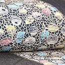 網手万寿菊に色紙文様単衣小紋 質感・風合