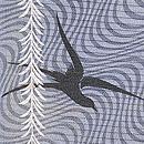 柳にツバメ絽の羽織 質感・風合