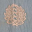 すすきと四季の花三つ紋色留袖単衣 背紋