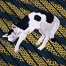 眠りネコちゃんの付下 質感・風合