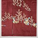 大彦作 梅樹に若松、菊文様色留袖 上前