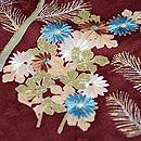 大彦作 梅樹に若松、菊文様色留袖 質感・風合