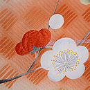 網代紋に梅、菊、紅葉の羽織 質感・風合