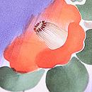 斜め絣に庭木の花尽くし文様小紋 質感・風合