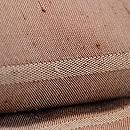 伊兵衛織 薄茶縞の単衣紬 質感・風合