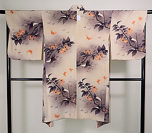 桜に蝶々の羽織