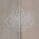暈しに早春柄の絵羽織 背紋