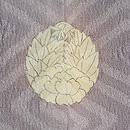 杏葉牡丹一つ紋訪問着 背紋
