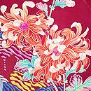 菊と芍薬三つ紋訪問着 質感・風合