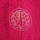 菊と芍薬三つ紋訪問着 背紋