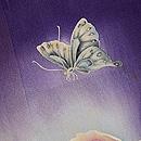 牡丹に蝶一つ紋付下 質感・風合