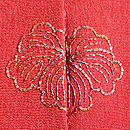 臙脂地松竹梅絞り刺繍訪問着 背紋