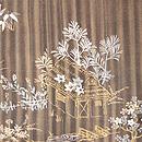 縞に四季の風景一つ紋付下 質感・風合