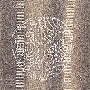縞に四季の風景一つ紋付下 背紋