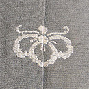 棒縞に花兎紋の付下 背紋