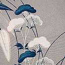 山百合と女郎花の単衣小紋 質感・風合