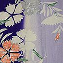 染分け縞に花丸紋小紋単衣 質感・風合