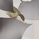 葉影に小鳥小紋付下 質感・風合