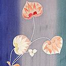 縞の暈しに水葵の付下 質感・風合