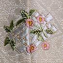 象牙色藤襷文様の紬変わり織 背紋
