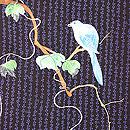 かたばみに青い鳥の付下 質感・風合