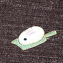 憲房色結城縮に羽兎の刺繍袷 質感・風合