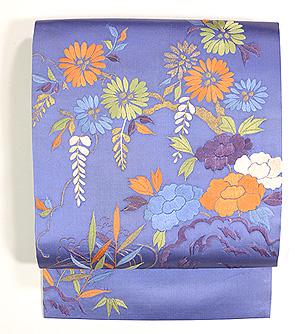 四季の花々刺繍名古屋帯