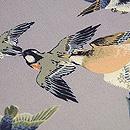 小鳥たちの図縮緬名古屋帯 質感・風合