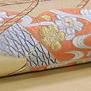 小鼓胴に調べ緒刺繍開き名古屋帯 質感・風合