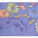 四季の花々刺繍名古屋帯 前中心
