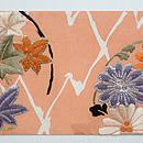 菊にモミジ丸紋名古屋帯 前中心
