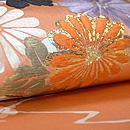 菊にモミジ丸紋名古屋帯 質感・風合