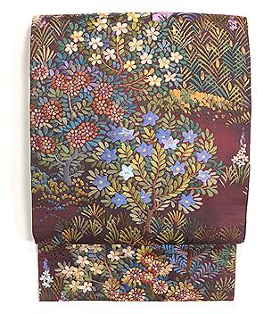 桃源郷刺繍丸帯