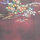 桃源郷刺繍丸帯 前中心