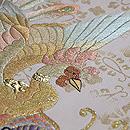 鳳凰と冠刺繍袋帯 質感・風合