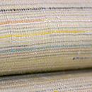 浦野理一作 繋ぎ糸の横やたら縞名古屋帯 質感・風合