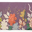 流水に牡丹江戸期刺繍の帯 前中心