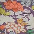 流水に牡丹江戸期刺繍の帯 質感・風合