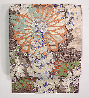 菊と藤の丸帯