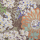 菊と藤の丸帯 前中心
