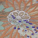菊と藤の丸帯 質感・風合